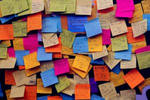 Post-it avec notes